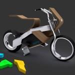 Biona – дървен мотоциклет с джобни батерии 1
