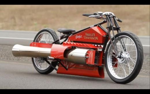 Harley-Davidson с реактивен двигател 01