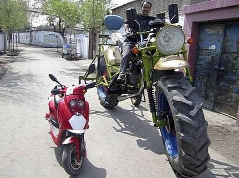 Китайски мотоциклет-трактор 01